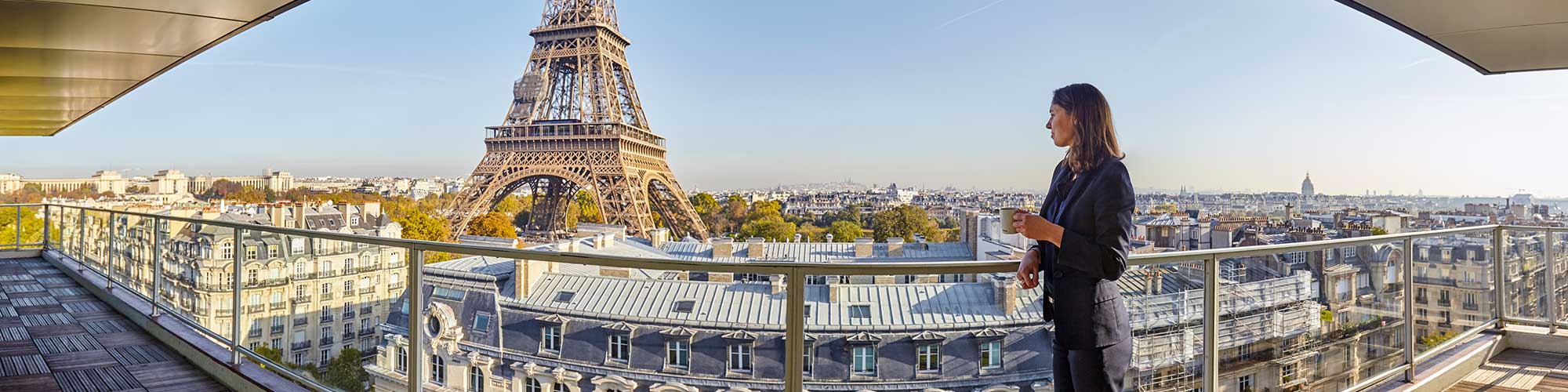 Hotel with Eiffel Tower view