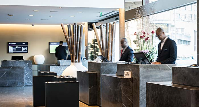 Lobby hôtel design