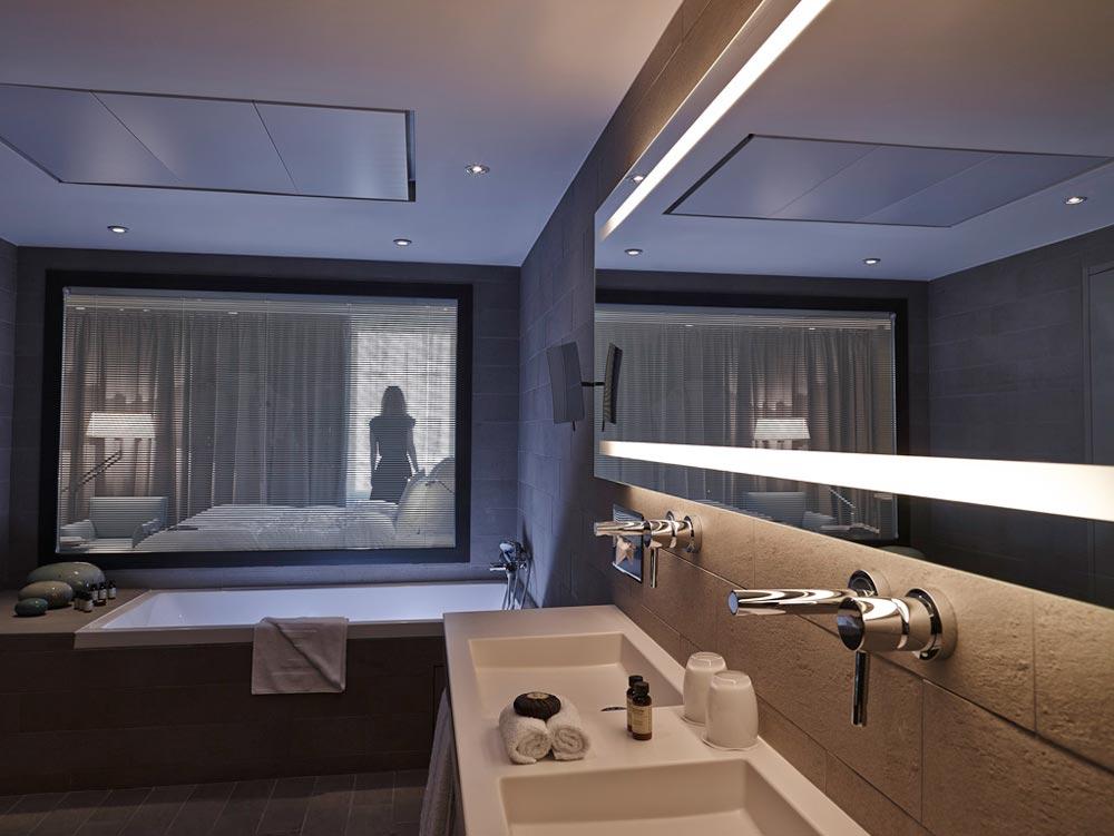 Design bathroom with bathtub